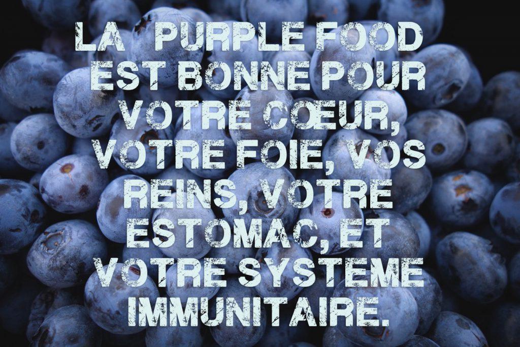 La purple food est bonne pour vous